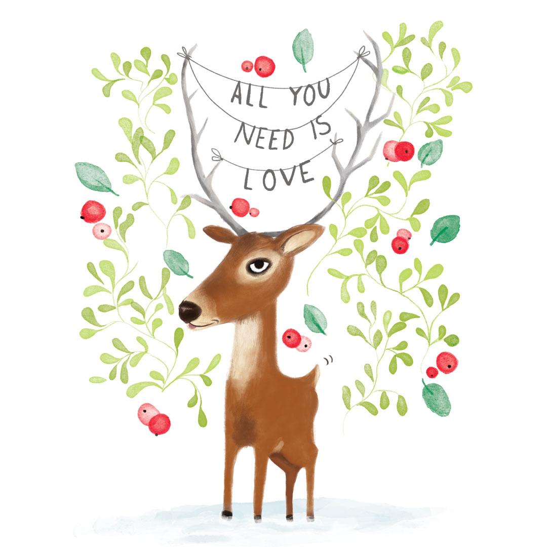 Xmas Card Deer